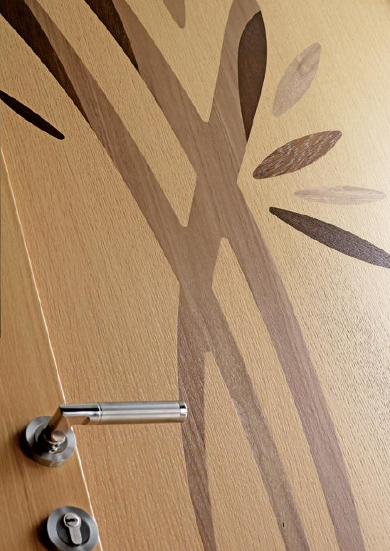 Porte mixte bois aluminum