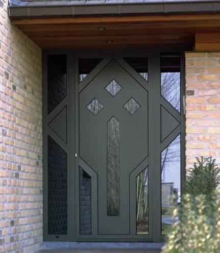 Porte d 39 entr e aluminum la rambolitaine Porte d entree technal