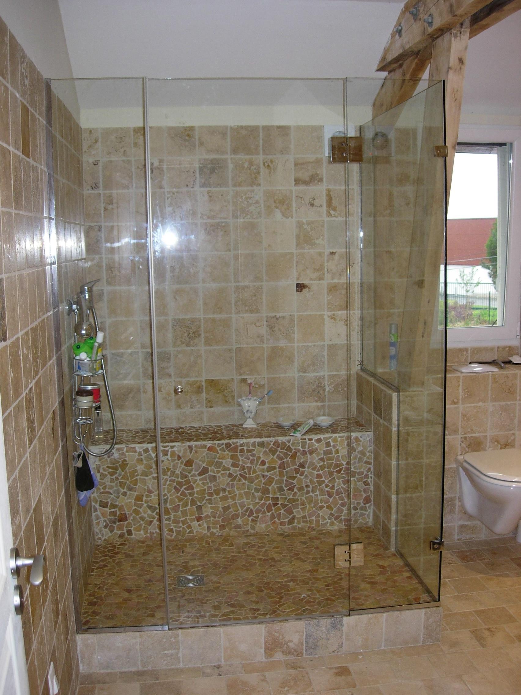 Parois de cabine de douche en verre sur mesure rambouillet - Paroi de douche en verre sur mesure ...